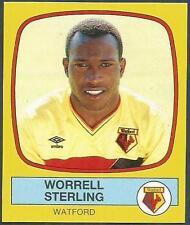 PANINI FOOTBALL 88-#339-WATFORD-WORRELL STERLING