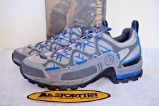 NIB La Sportiva Barr Trail Hiking Shoes Women's  Size 7 USA 38 EUR Grey/Blue