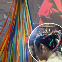 Colored Wool Felt Dreadlocks Handmade Crochet Braids Hair Extensions DIY Craft