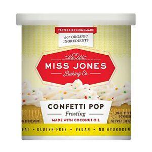 Miss Jones Baking Co 90% Organic Frosting Confetti Pop Vegan: DATE: BSB JUN 2021