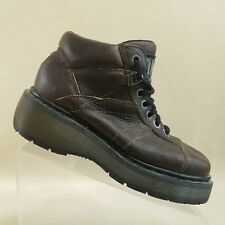 Women's DR. MARTENS 8676 Brown Ankle Boots Made in England* Size 8 US 6 UK #X28