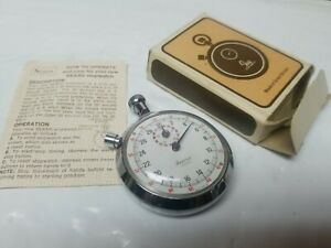 Swiss Made Sears Stopwatch Mechanical Wind Up 1/10th Shock Resistant Vintage