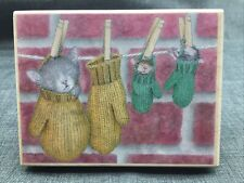 House Mouse Cozy Mittens Stampabilities HMPR1035 Mudpie Monica and Friend