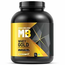 MuscleBlaze Whey Gold Protein Isolate, 2 kg/4.4 lb (French Vanilla) Fast Ship