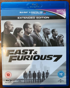 Fast And Furious 7 Blu-ray 2015 Action Movie w/ Slipcover