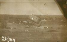 Military real photo postcard Sedan France Airship Dirigible WWI ca 1915 Postcard