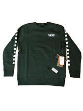 VANS Crew Sweatshirt Exposition Check Pine Green White Youth SZ M (VN0A3HWCEEI)