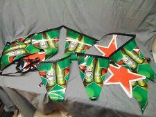"""Heineken Beer hanging 8 Flags advertisement banner display red stars over 100"""""""