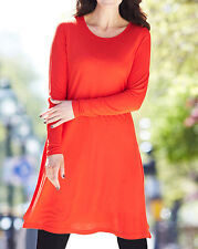 Ladies Swing Dress ex Simply. B - Plus Size 12 to 28 NBWT Viscose Orange/Red