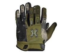 Hk Army Pro Gloves Full Finger Olive Camo paintball gloves Large L Lg New