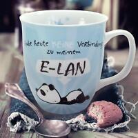 XL Tasse Panda E-Lan Kaffeetasse, Premium Kaffeebecher Porzellan Becher Pandabär