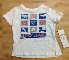 "Guess Baby Boys ""GUEES JEANS"" T-Shirts, White, 18M"
