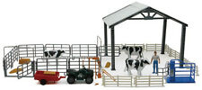 NewRay Deluxe Dairy Ranch Playset& 1/18 Milk Cows & Accessories1 Free Cats added