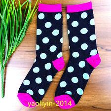 2Pairs Women Socks Cotton Casual Dress Polka Dots Socks 19*20cm AWZ136