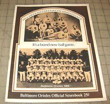 1969 BALTIMORE ORIOLES Vs Detroit Tigers Marked Scorebook BB 100th Anniversary