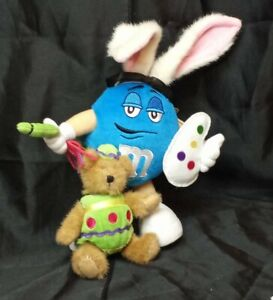 Boyds M&M's Egglebeary & Blue Double Stuffed Plush Collectible Toy with Tags