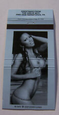 Rare Matchbook Cover Sexy Pin Up Risque Beautiful Woman Female Lovely Lady 8