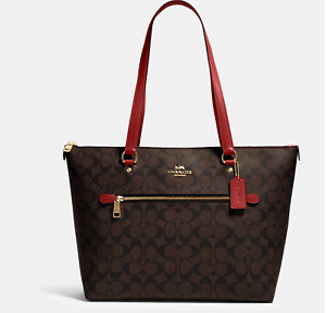 NWT Coach women's Gallery Tote In Signature Canvas