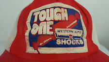 Vintage Western Auto Tough One Shocks Automotive Racing Advertising Trucker Hat