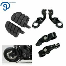 """1-1/4"""" Highway Foot Pegs Pedals Mount Clamps For Harley Touring Motorcycle Black(Fits: Mastiff)"""