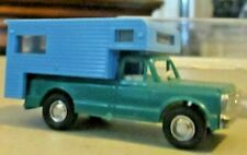 LINDBERG HO SCALE CHEVROLET PICKUP CAMPER IN EXCELLENT CONDITION