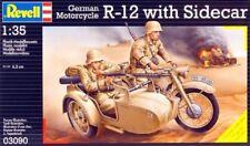 Revell Motorrad BMW R-12 mit Beiwagen neu 2.Weltkrieg Wehrmacht Afrikakorps 1:35