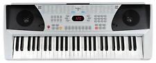 Digital Keyboard 54-Tasten E-Piano Klavier Sound Rhythmen Lernfunktion silber