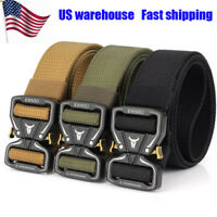 Men Military Belt Adjustable Buckle Combat Waistband Tactical Rescue Rigger