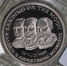 Landing on the Moon Silver Medal - Aldrin Armstrong Collins