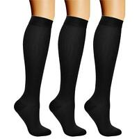 Compression Socks (3 Pairs), 15-20 mmHg is Best Athletic &, 01 Balck, Size 5.5 d