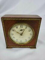 Vintage Seth Thomas Severn Small Alarm Clock 1950's Brown Wooden Case Untested