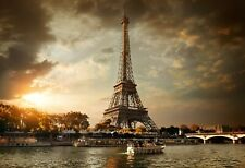 VLIES Fototapete-EIFFELTURM-(3732V)-Paris Notre Dame Wolken Himmel Fluss See XXL