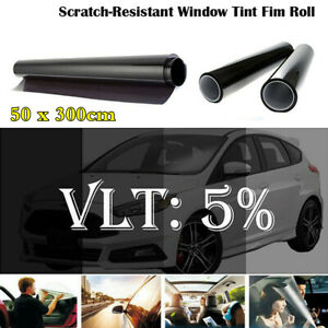 Universal 50x300cm Car Window Tint Film Roll Black 5% VLT Anti-UV Reduce Glare