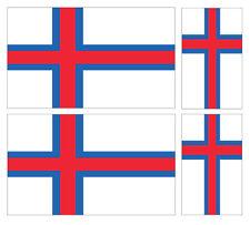 4 X FAROE ISLAND FLAG VINYL CAR VAN IPAD LAPTOP STICKER