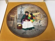 "Mib Royal Doulton Character Plate ""Old Balloon Seller"", 9 3/4"" Diameter"