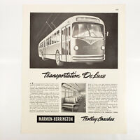1946 Marmon Herrington Ad Trolley Coach Electric Transit Bus Vintage Traction