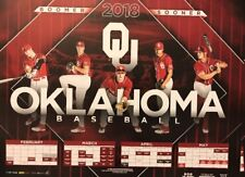 2018 OU Oklahoma Sooners Baseball Schedule Poster  FREE SHIPPING
