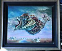 "Alex Fishgoyt ""Fish of History"" Limited Edition A/P, Canvas Surrealism 36x30"