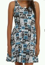 SUPERNATURAL LOVE ME SOME PIE LARGE LG BLUE TEAL COSPLAY TV TANK WOMEN'S DRESS