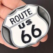 Route 66 Belt Buckle SILVER MEN WOMEN Cowboy BUCKLE Silver High Quality