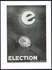 1950s Vintage 1951 Election Grand Prix Watch Mid Century Modern Art Print AD