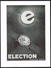 1950s Vintage 1951 Election Grand Prix Watch Mid Century Modern Art Print AD
