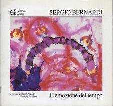 Sergio Bernardi: l'emozione del tempo.