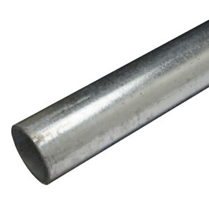Qty 3 x 3.5m Lengths Galvanised Steel Handrail Tube 48.3mmO/D 40mmNB Key Clamps