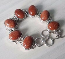 Beautiful Golden Sunstone Bracelets 925 sterling silver
