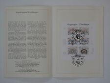 (86j29) DDR Erinnerungsblatt 1986 ESST Mi.Nr. 3057-3062 Erzgebirge Schwibbogen