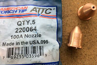 Nozzle T100 100A Plasma Cutting American Torch Tip 220064 PMAX1650 Multi Qty