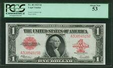 U.S. 1923  $1 LEGAL TENDER BANKNOTE FR-40 PCGS CERTIFIED ABOUT NEW-53