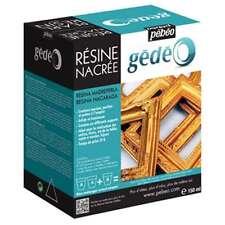 PEBEO GEDEO GOLD PEARL RESIN & HARDENER 150ml KIT PEARLESCENT LUMINOUS MARBLING
