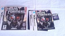 TRANSFORMERS REVENGE OF FALLEN NINTENDO DS DSI 2DS 3DS XL PAL UK INGLÉS